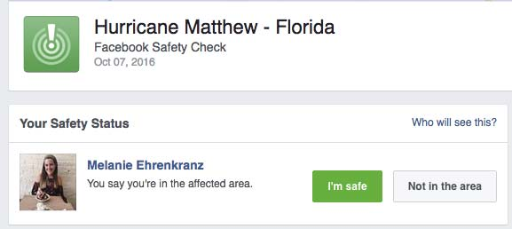 Facebook Safety Check Purpose is Questionable