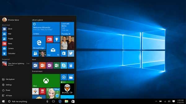 Progress of Windows 10