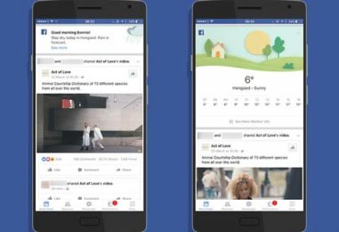 A New Version of Facebook's Weather App