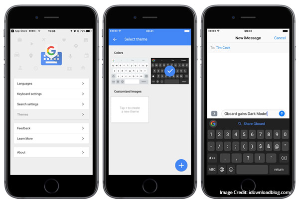 Gboard smart keyboard application for ios