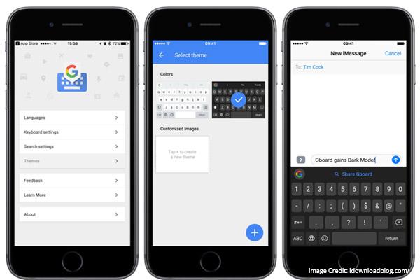 Gboard smart keyboard application for ios