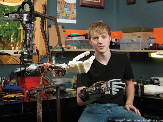 behind creation of 3d printed robotic arm