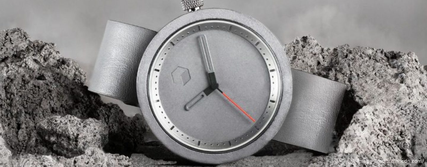 An Innovative Masonic Timepiece Literally Made Out Of Cement