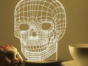 This 3D Skull Lamp Will Be A Neat Addition In Your Home Decor